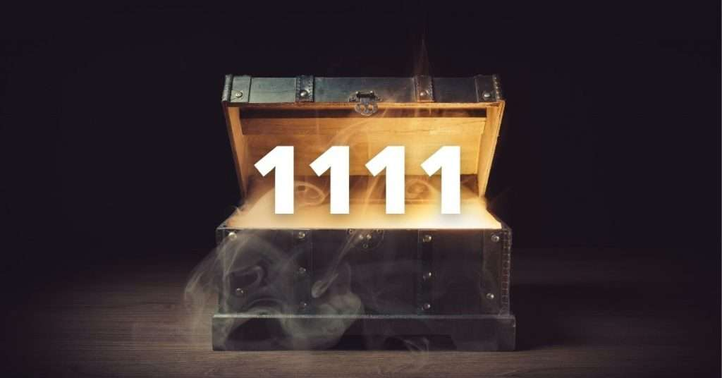 The number 1111 banner