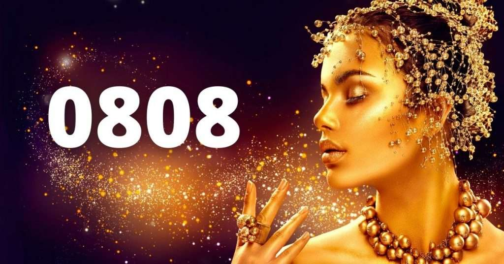 The number 0808 with gold